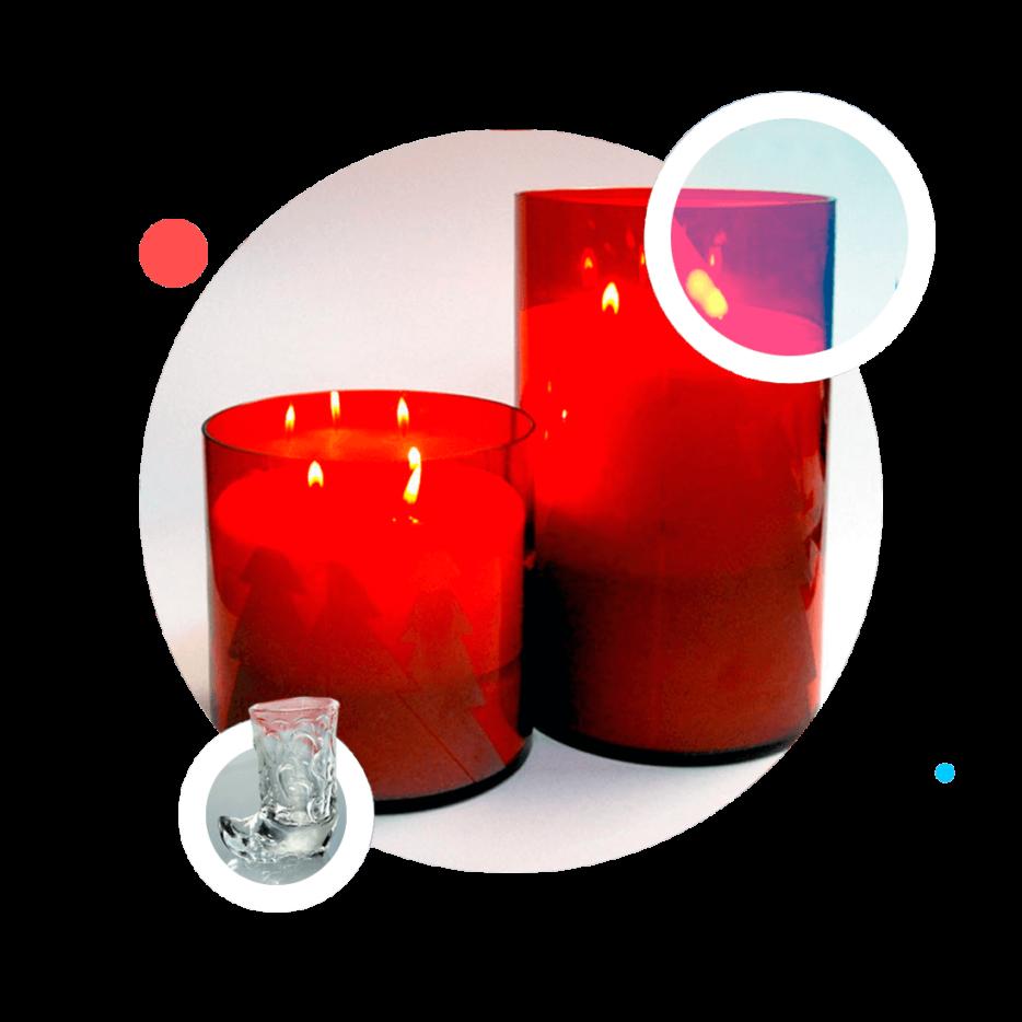 Стеклянные изделия для свечей